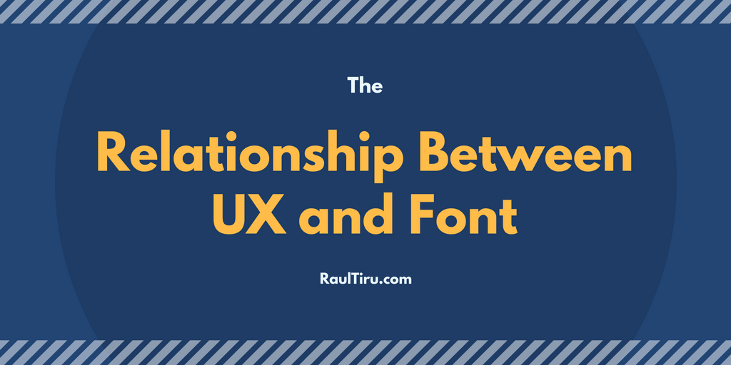 Relationship Between UX and Font