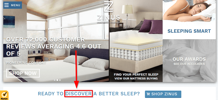 discover is a powerful marketing word