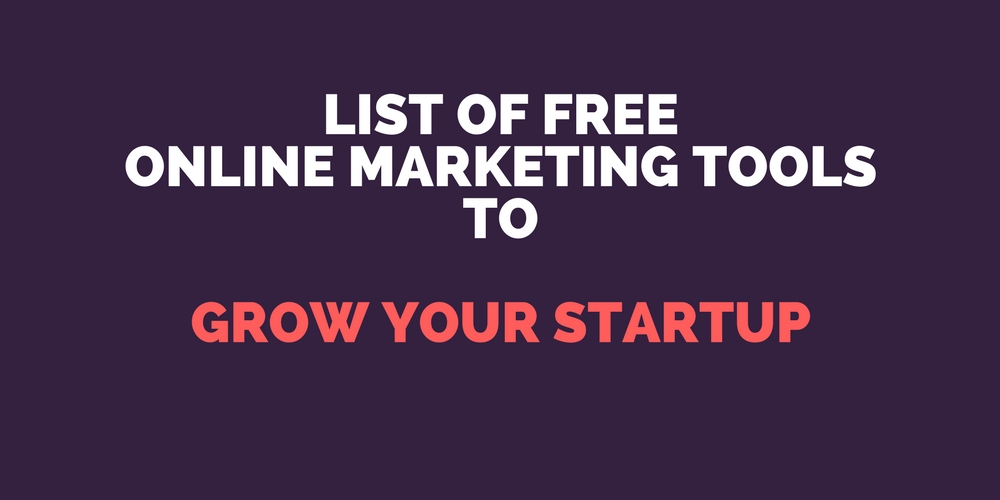 Free Online Marketing Tools List