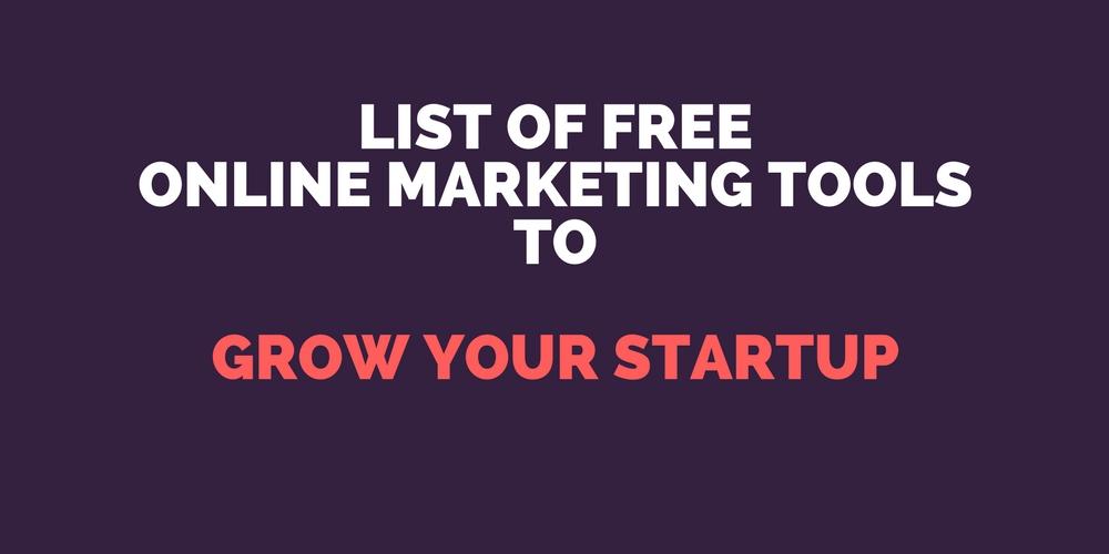 Free Online Marketing Tools List